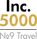 Among Top 10 Travel Companies by Inc.5000 list